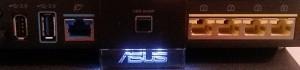 Les ports du routeurs Asusu RT-AC68U